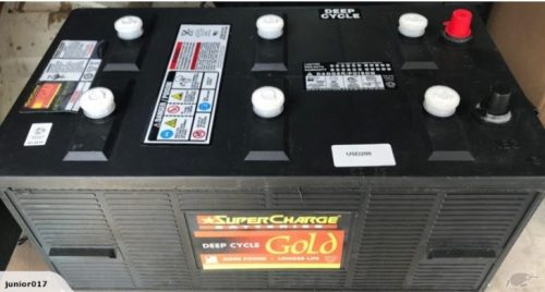 SUPERCHARGE USD200 DEEP CYCLE BATTERY 220AH US BATTERY FREE SHIPPING TO MAINFREIGHT DEPOT