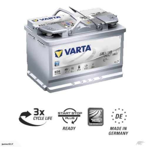 VARTA E39 AGM BATTERY LN3 VARTA DIN66L SILVER DYNAMIC AGM BATTERY 760 CCA