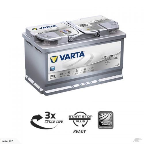 VARTA F21 AGM BATTERY LN4 VARTA DIN75LAGM SILVER DYNAMIC AGM BATTERY 800 CCA