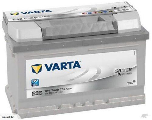 VARTA E38 BATTERY VARTA DIN65L SILVER DYNAMIC BATTERY 750 CCA