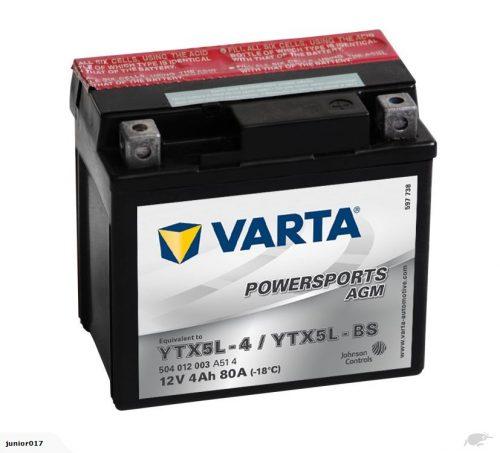 VARTA YTX5L-BS MOTORBIKE BATTERY. CBTX5L-BS CTX5L-BS CT5L-BS YT5L-BS GT5L-BS FREE SHIPPING NATIONWIDE