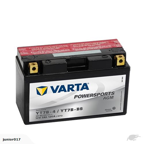VARTA YT7B-4 12v 120 CCA 7ah YT7BBS, YT7B4, MB7BB, CT7B-BS FREE SHIPPING NATIONWIDE