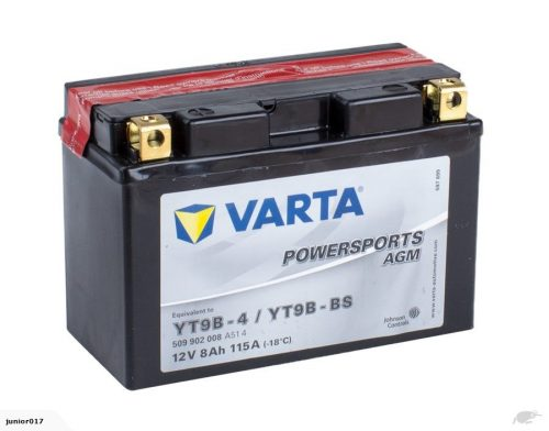 VARTA YT9B-4 12v 135CCA 8ah MBT9B4, CT9B-BS, CT9-BS, YTB9B-BS, YT9B-B FREE SHIPPING NATIONWIDE