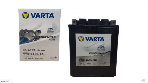 Motorcycle Battery YTX14AHL YTX14AHL-4 MPLX14AU-HP YTX14AHL-BS VARTA FREE SHIPPING NATIONWIDE