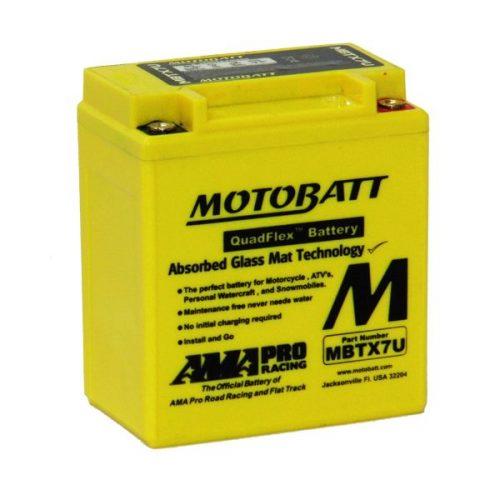 MOTOBATT QUADFLEX MBTX7U 12V 115CCA MOTORBIKE BATTERY YTX7L-B YTX7L-BS