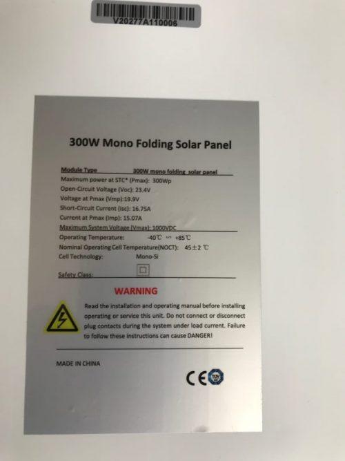300W FOLDING SOLAR PANEL 300W FOLDABLE SOLAR CHARGER
