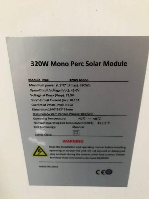 320W SOLAR PANEL 320W MONO SOLAR PANEL