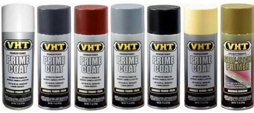 VHT Prime Coat ( All Colours ) SP301 White SP302 Dark Grey SP303 Red Oxide SP304 Light Grey SP305 Black SP306 Yellow Zinc Chromate SP307 Self Etch Primer (Green)