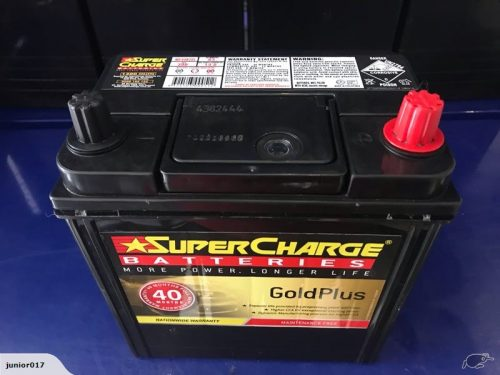 SUPERCHARGE NS40ZL 40B20 390 CCA BATTERY 40 MONTHS WARRANTY