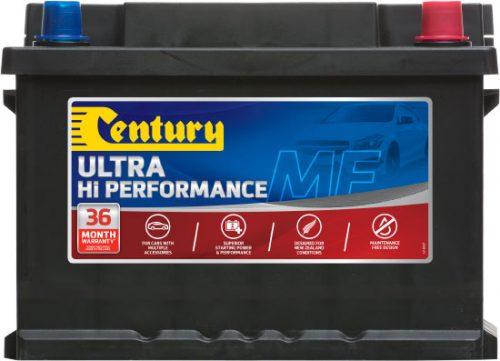 DIN53ZLMF CENTURY HI PERFORMANCE CAR BATTERY DIN53 DIN55 500 CCA 36 MONTHS WARRANTY