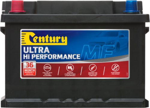 DIN53ZRMF CENTURY HI PERFORMANCE CAR BATTERY DIN53 DIN55 500 CCA 36 MONTHS WARRANTY