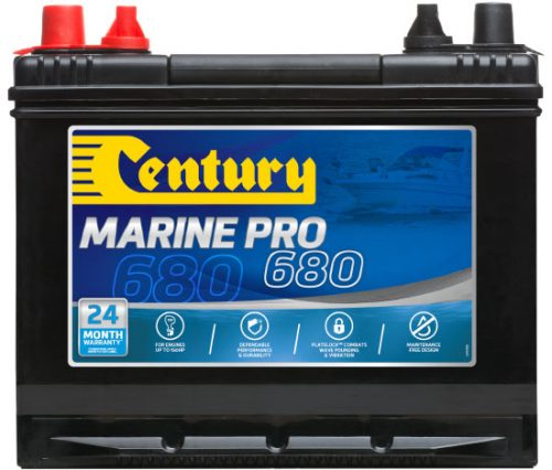 M24MF Century Marine Pro 680 Battery 680 CCA   850 MCA   78 AH 24 MONTHS WARRANTY
