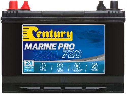 M27MF Century Marine Pro 720 Battery 720 CCA   900 MCA   80 AH 24 MONTHS WARRANTY