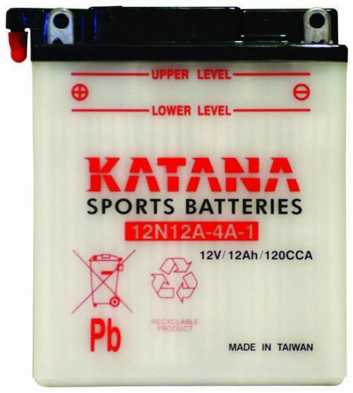 12N12A-4A-1 Katana Conventional Motorcycle Battery 12V 120CCA 12AH 6 MONTHS WARRANTY