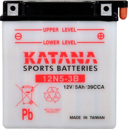 12N5-3B Katana Conventional Motorcycle Battery 12V 35CCA 5AH 6 MONTHS WARRANTY