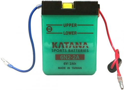 6N2-2A Katana Conventional Motorcycle Battery 6V 2AH 6 MONTHS WARRANTY