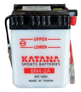 6N4-2A Katana Conventional Motorcycle Battery 6V 4AH 6 MONTHS WARRANTY