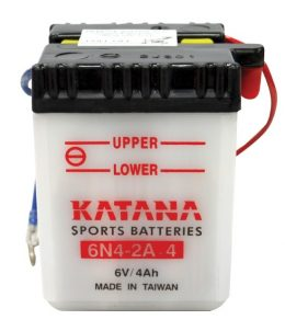 6N4-2A-4 Katana Conventional Motorcycle Battery 6V 4AH 6 MONTHS WARRANTY