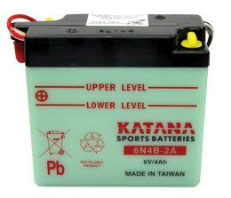 6N4B-2A Katana Conventional Motorcycle Battery 6V 4AH 6 MONTHS WARRANTY