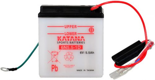 6N5.5-1D Katana Conventional Motorcycle Battery 6V 5.5AH 6 MONTHS WARRANTY