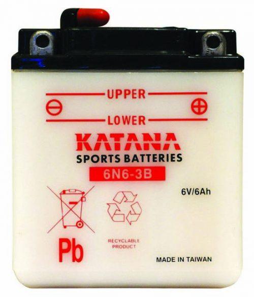 6N6-3B Katana Conventional Motorcycle Battery 6V 6AH 6 MONTHS WARRANTY