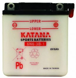 6N6-3B-1 Katana Conventional Motorcycle Battery 6V 6AH 6 MONTHS WARRANTY