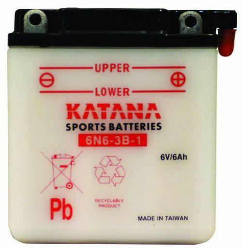 6N6-3B-1 Katana Conventional Motorcycle Battery 6V 6AH 6 MONTHS WARRANTY