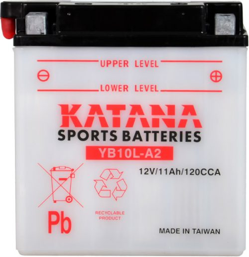 YB10L-A2 Katana Conventional Motorcycle Battery 12V 11AH 6 MONTHS WARRANTY