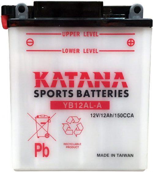 YB12AL-A Katana Conventional Motorcycle Battery 12V 12AH 6 MONTHS WARRANTY