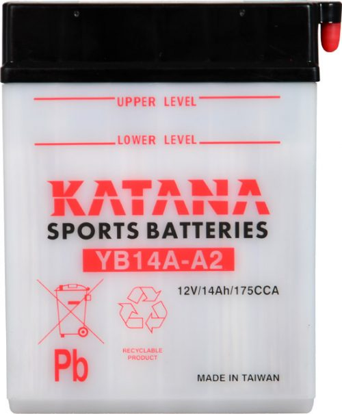 YB14A-A2 Katana Conventional Motorcycle Battery 12V 14AH 6 MONTHS WARRANTY