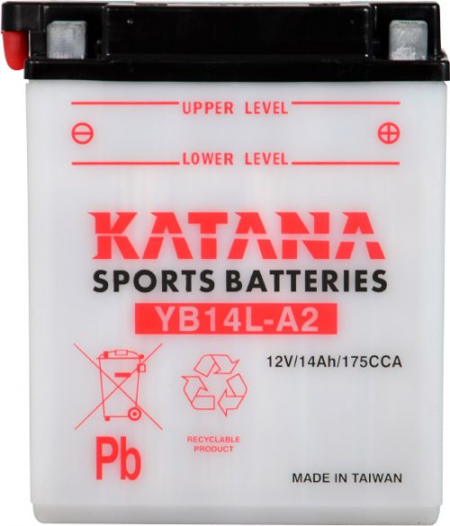 YB14L-A2 Katana Conventional Motorcycle Battery 12V 14AH 6 MONTHS WARRANTY