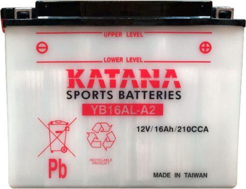 YB16AL-A2 Katana Conventional Motorcycle Battery 12V 16AH 6 MONTHS WARRANTY