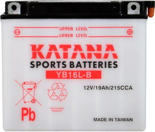 YB16L-B Katana Conventional Motorcycle Battery 12V 19AH 6 MONTHS WARRANTY