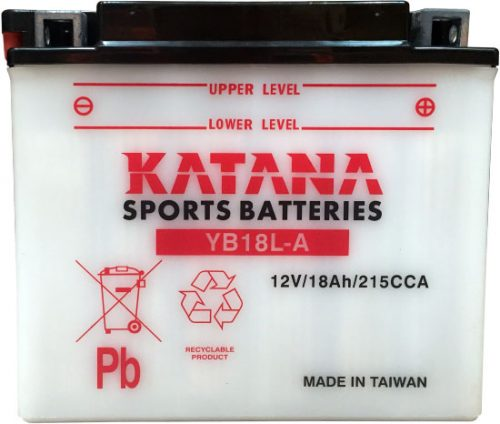 YB18L-A Katana Conventional Motorcycle Battery 12V 18AH 6 MONTHS WARRANTY