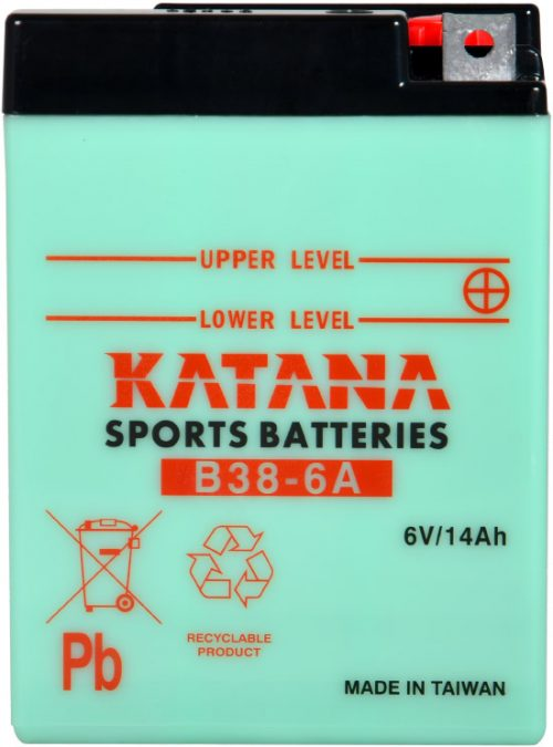B38-6A Katana Conventional Motorcycle Battery 6V 13AH 6 MONTHS WARRANTY