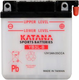 YB3L-B Katana Conventional Motorcycle Battery 12V 3AH 6 MONTHS WARRANTY
