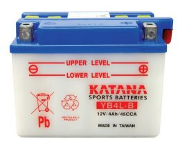 YB4L-B Katana Conventional Motorcycle Battery 12V 4AH 6 MONTHS WARRANTY