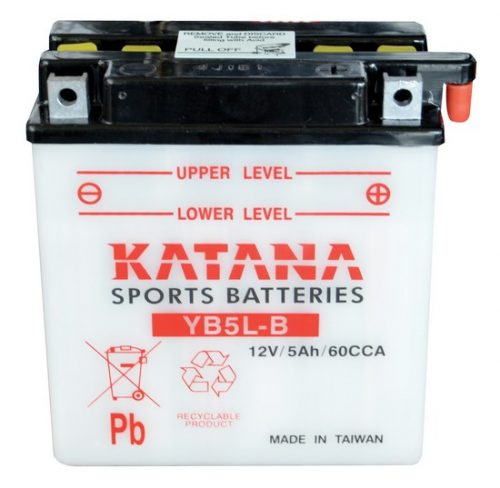 YB5L-B Katana Conventional Motorcycle Battery 12V 5AH 6 MONTHS WARRANTY