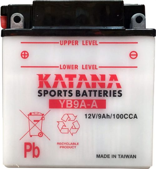 YB9A-A Katana Conventional Motorcycle Battery 12V 9AH 6 MONTHS WARRANTY