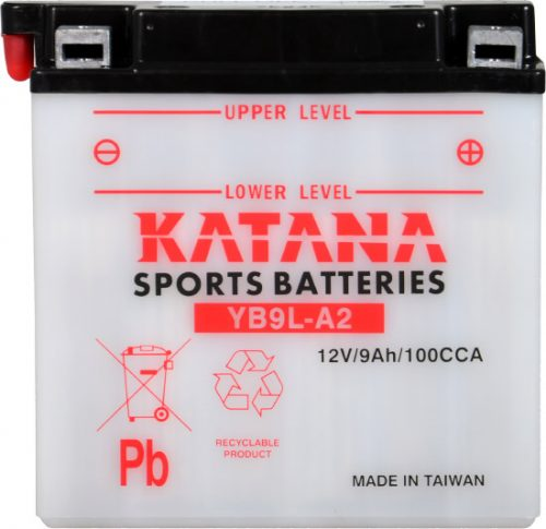 YB9L-A2 Katana Conventional Motorcycle Battery 12V 9AH 6 MONTHS WARRANTY