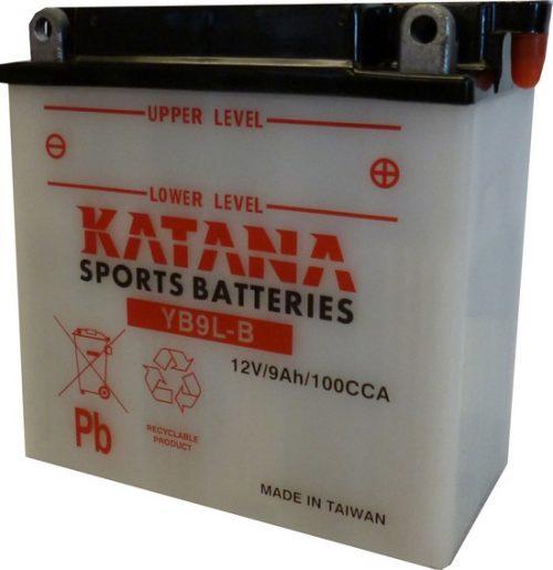 YB9L-B Katana Conventional Motorcycle Battery 12V 9AH 6 MONTHS WARRANTY
