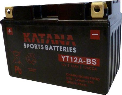 YT12A-BS Katana Premium Maintenance Free VRLA Range Motorcycle Battery 12V 10AH 6 MONTHS WARRANTY