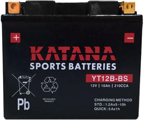 YT12B-BS Katana Premium Maintenance Free VRLA Range Motorcycle Battery 12V 10AH 6 MONTHS WARRANTY