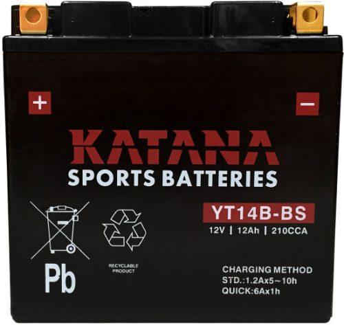 YT14B-BS Katana Premium Maintenance Free VRLA Range Motorcycle Battery 12V 12AH 6 MONTHS WARRANTY
