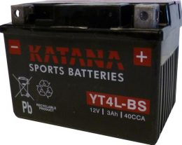 YT4L-BS Katana Premium Maintenance Free VRLA Range Motorcycle Battery 12V 3AH 6 MONTHS WARRANTY