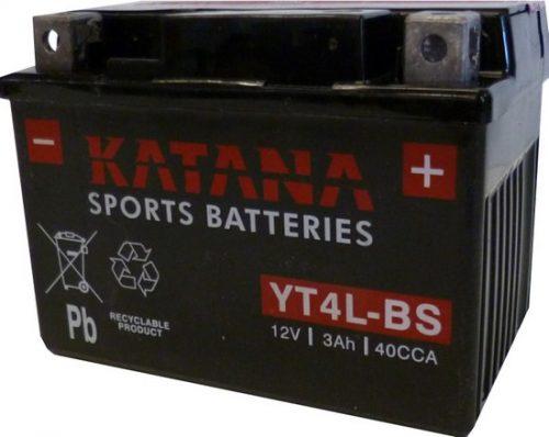 YT4L-BS Katana Premium Maintenance Free VRLA Range Motorcycle Battery 12V 3AH 6 MONTHS WARRANTY