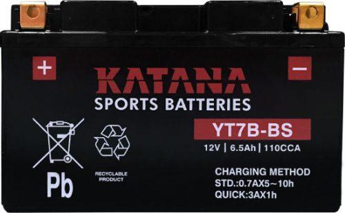 YT7B-BS Katana Premium Maintenance Free VRLA Range Motorcycle Battery 12V 6AH 6 MONTHS WARRANTY