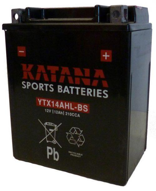 YTX14AHL-BS Katana Premium Maintenance Free VRLA Range Motorcycle Battery 12V 12AH 6 MONTHS WARRANTY
