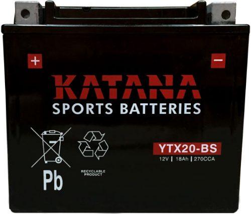 YTX20-BS Katana Premium Maintenance Free Motorcycle Battery 12V 18AH 6 MONTHS WARRANTY