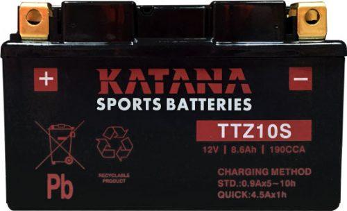TTZ10S Katana Premium Maintenance Free VRLA Range Motorcycle Battery 12V 9AH 6 MONTHS WARRANTY